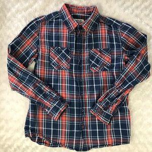 Cherokee Plaid Shirt Button Down Boy's Large 12/14